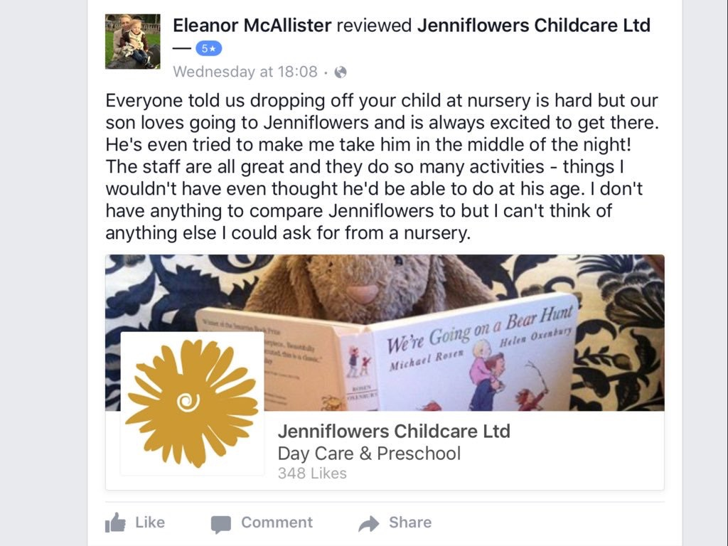 How can a childminder provide warm and consistent care?